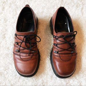 Dansko Janika Leather Lace Up Clog Size 39